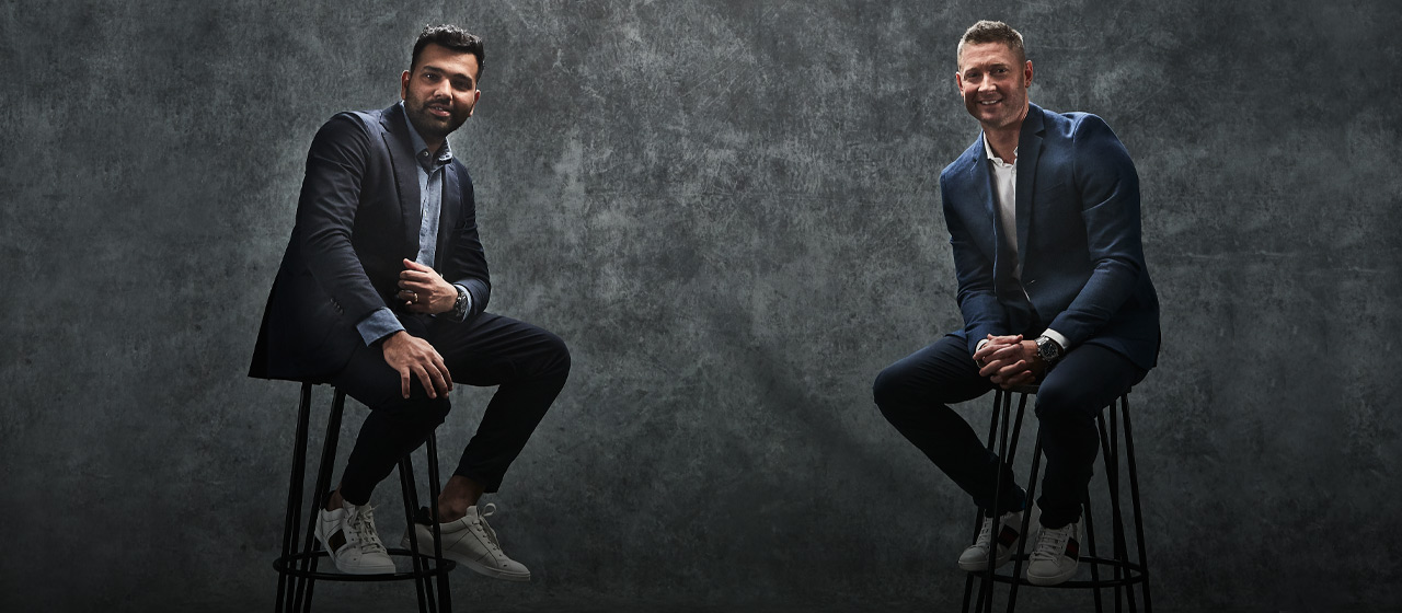 Rohit Sharma & Michael Clarke - Moments In Time - AthletesVoice