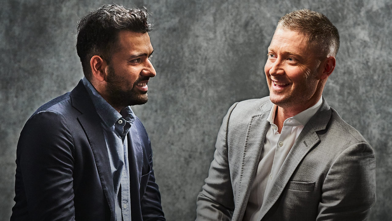 Rohit Sharma & Michael Clarke - Moments In Time - PlayersVoice